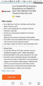 Free YouTube Premium Membership