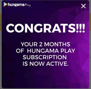 Hungama Play Subscription Free