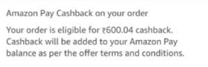 Amazon Pantry Cashback Offer