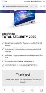 Free Bitdefender Total Security