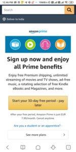 Amazon Prime Membership Free