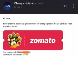 Zomato Offers Free Food Order