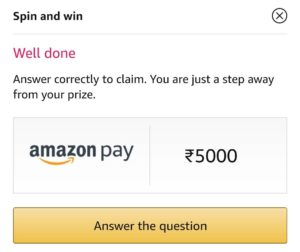 Sunday Amazon Spin And Win Answers
