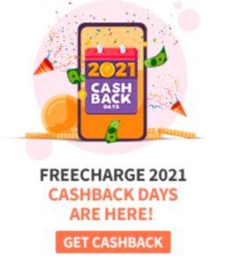 FreeCharge 2021 Cashback Days