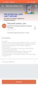 Freecharge Recharge Cashback Deals