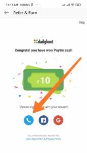 Dailyhunt App Refer Earn Offer