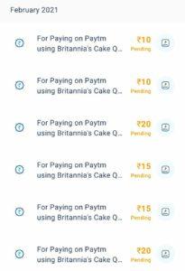Paytm Britannia Cake Offer