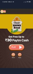 Paytm Classic Brown Bread Offer