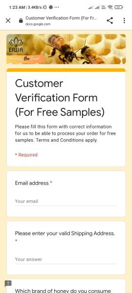 Free Sample Eiwa Honey