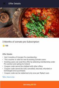 Zomato Pro Activation Code Free