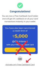 15. Finally Activate In Your Dhani Free Cashback Card for Life Time (Free Of Cost)