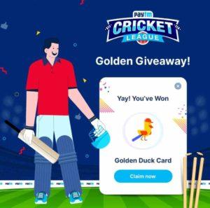 Paytm Golden Duck Card Free