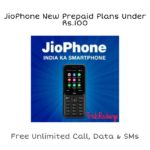 JioPhone New Prepaid Plans Under Rs.100