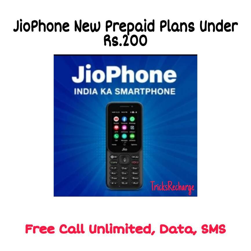 JioPhone New Prepaid Plans Under Rs.200