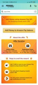 Amazon Add Money Offer - Free Shopping Rewards Worth Rs.200